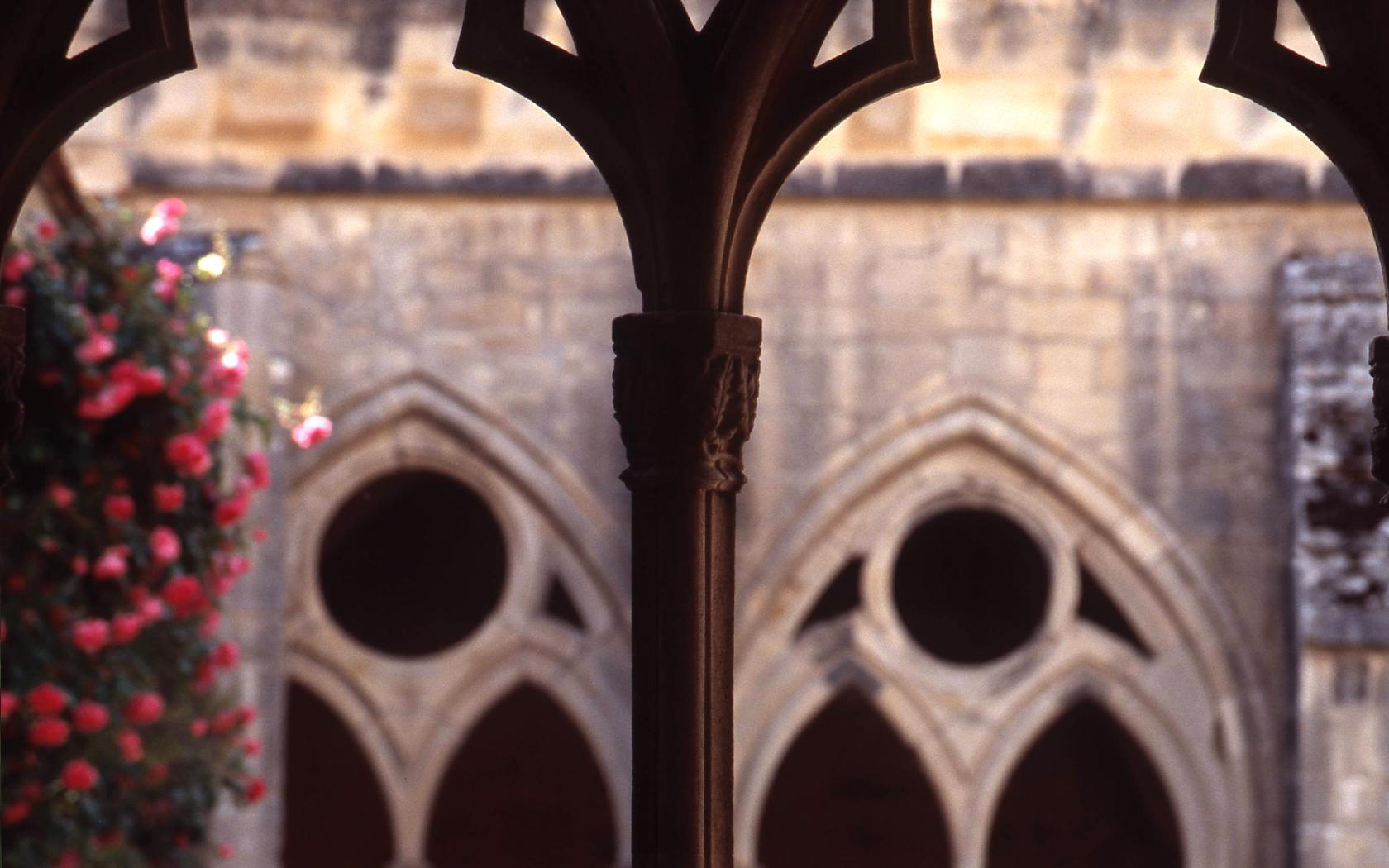 Abbaye de Noirlac, détail du cloître