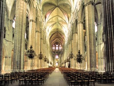 Cathédrale de Bourges, Cher. La nef