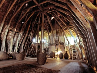 Château de Sarzay, la charpente du corps de logis