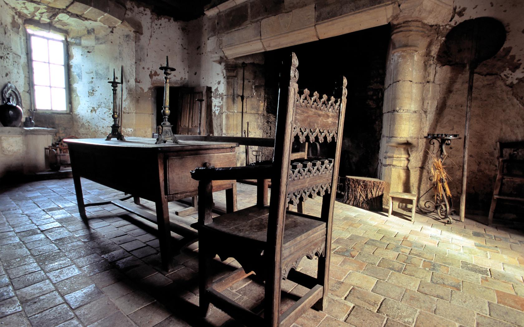 Château de Sarzay, Indre. Une salle
