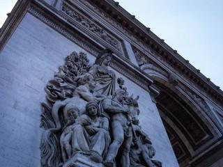 Paris, Arc de Triomphe, détail