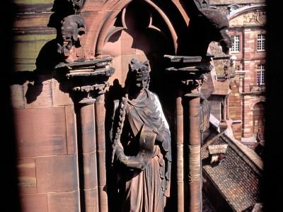 Cathédrale de Strasbourg, une statue