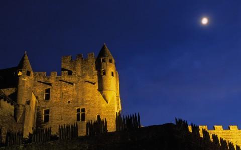 Château de Beynac, Dordogne – Les remparts de nuit
