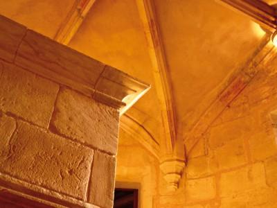 Château de Biron, Dordogne – Un escalier intérieur