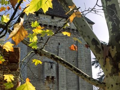 Donjon du château de la Salle, Saint-Léon sur Vézère, Dordogne – Couleurs d'automne