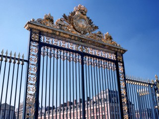 Château de Versailles, grilles de la cour d'Honneur