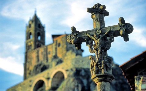 Crucifix, Aiguilhe, Haute-Loire