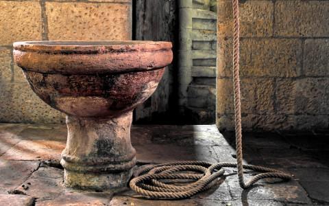 Fonds baptismaux, Valojoulx, Dordogne