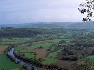 La Vézère vue depuis la Côte de Jor, Dordogne