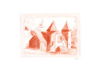 Lacypierre, Dordogne – Sanguine, esquisse