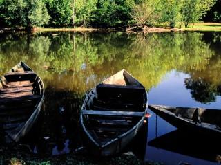 Barques sur la Dordogne, Carennac, Lot