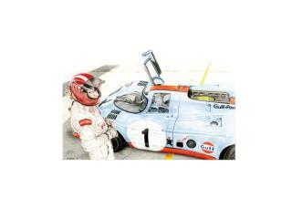 Porsche 917k, pilote Jo Siffert, Daytona 1970 – Vue en contre-plongée