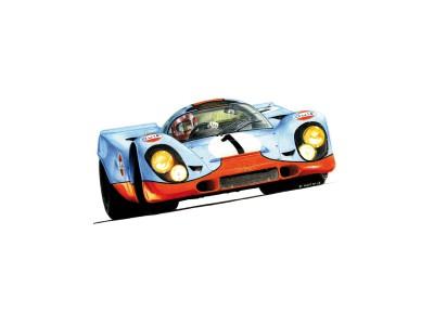 Porsche 917k, pilote Jo Siffert, Daytona 1970 – Vue d'artiste