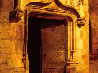 Porte de l'hôtel de Grézel, Sarlat, Dordogne