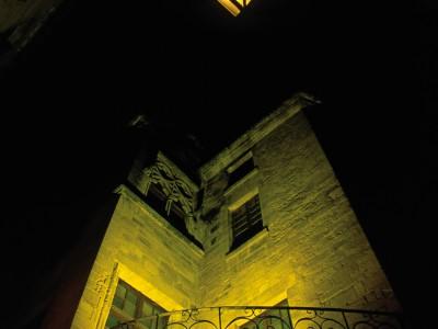Trompe d'angle de l'hôtel Plamon, Sarlat, Dordogne – Vision nocture…
