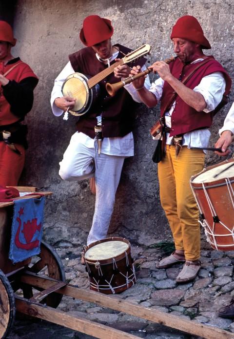 Troubadours, fête du Roi de l'Oiseau, Le Puy en Velay, Haute-Loire