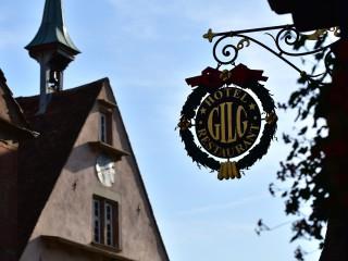 Enseigne dans le vignoble, Alsace