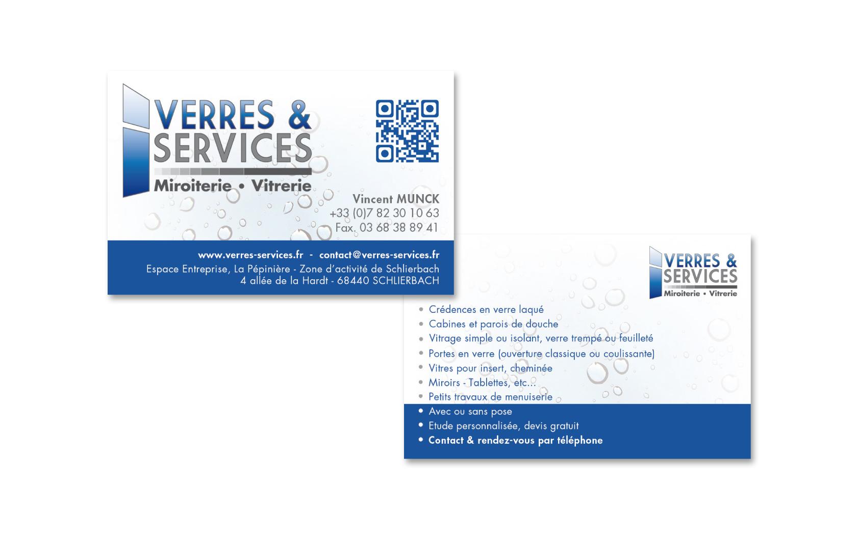 Carte De Visite Verres Services