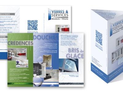 Flyer trois volets Verres & Services