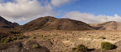 Paysages désertiques, sud de Fuerteventura, Iles Canaries