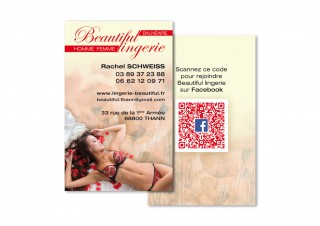 Carte de visite Beautiful Lingerie