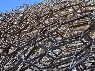 La ruche, détail de la structure – Pavillon du Royaume-Uni, Expo 2015 Milan