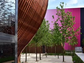Courbes cuivrés – Pavillon Hongrois, Expo 2015 Milan