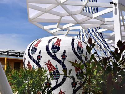 Mosaïque en volume – Pavillon Turc, Expo 2015 Milan
