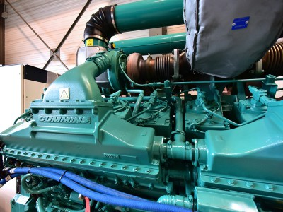 Cummins France, groupe électrogène V16 – 50 litres – 2000 KVA