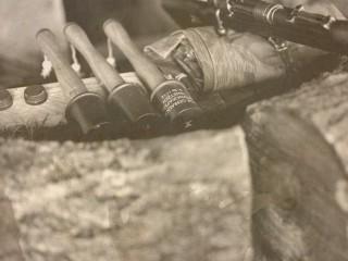 Stiehlhandgranate et fusil Mauser parés au combat – Expo Dannemarie, Alsace