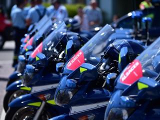 Escorte pour le Tour Alsace 2015.