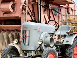 Tracteur Fendt «Dieselross» et batteuse Lanz – Rassemblement  ARAMAA, Reiningue, Alsace