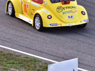 VW Cox, sortie de courbe