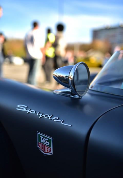 Porsche 550 Spyder, détail rétroviseur