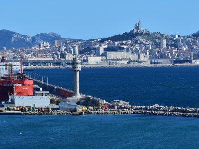 Transporteur de gaz «METHANIA», port de Marseille