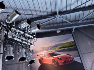 Projecteurs au Centre Porsche Mulhouse