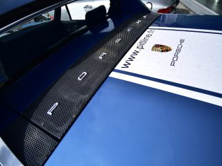 Porsche 914 détail capot arrière