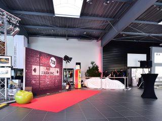 Hall d'accueil du Centre Porsche Mulhouse