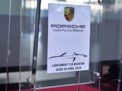 Lancement 718 Boxster