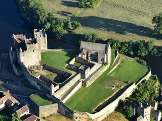 Château de Beynac, vue aérienne