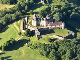 Château de Fénelon, vue aérienne