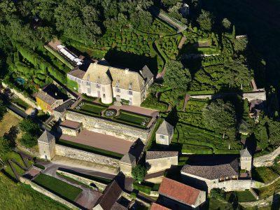 Château et parc de Marqueyssac, vue aérienne