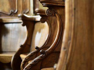 Stalles en perspective, Abbaye de Chancelade