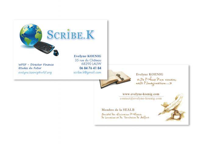 Carte de visite Scribe K