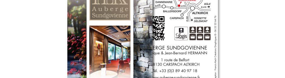 Carte de visite Auberge Sundgovienne