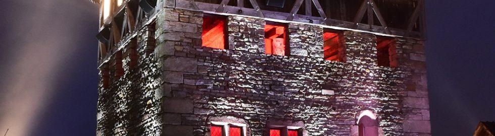 Maison forte dans le brouillard Ecomusée Alsace